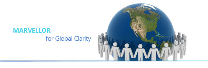 MARVELLOR for global clarity - we aim to facilitate global communications by our translation services